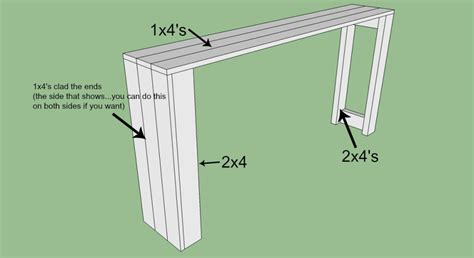 diy sofa table with outlet diy console table
