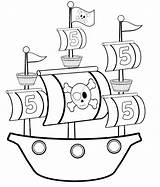 Pirate Ship Coloring Pages Simple Preschool Awesome sketch template