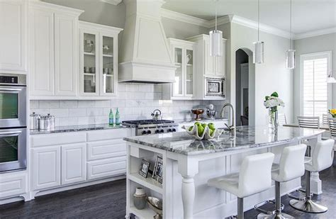 gray kitchens with white cabinets pros and cons of granite countertops all you need to 6910
