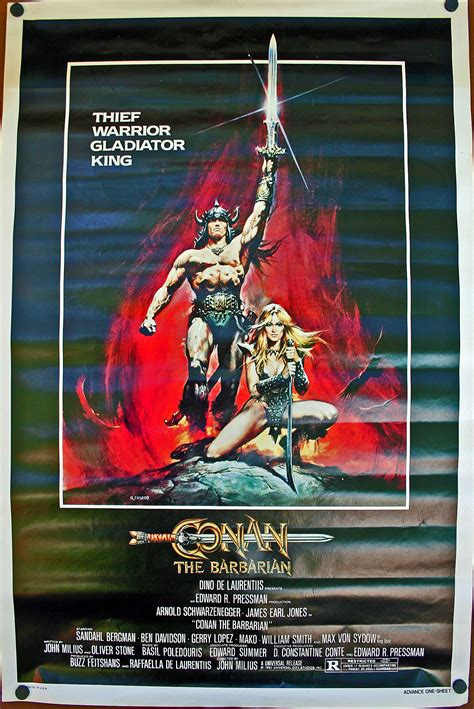 conan  barbarian  sheet  poster original