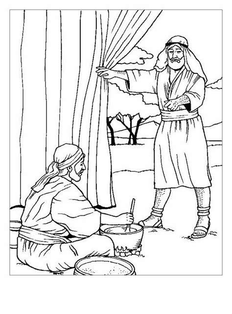 Jacob En Ezau Kleurplaat by Dibujos De Esa 250 Y Jacob Para Colorear La Primogenitura
