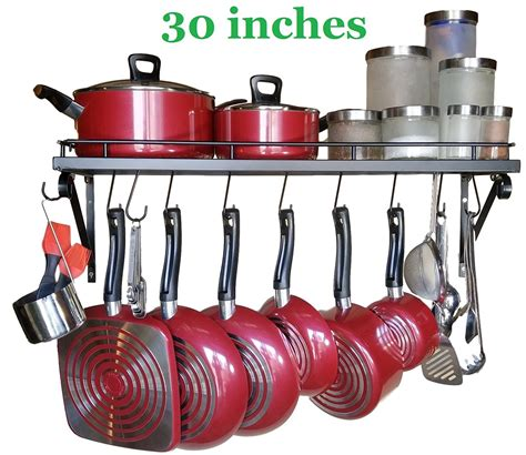 rack for pots and pans 30 quot wall mounted pots and pans rack best offer reviews
