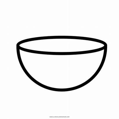 Coloring Cereal Bowl Empty Colorare Ciotola Colouring