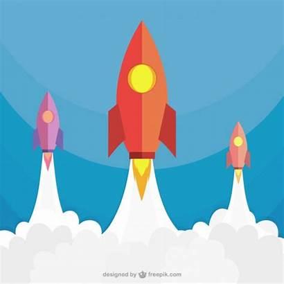 Rocket Launch Launching Rockets Vector Clip Clipart