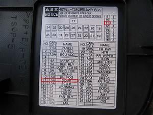 2007 Toyota Rav4 Cigarette Lighter Fuse