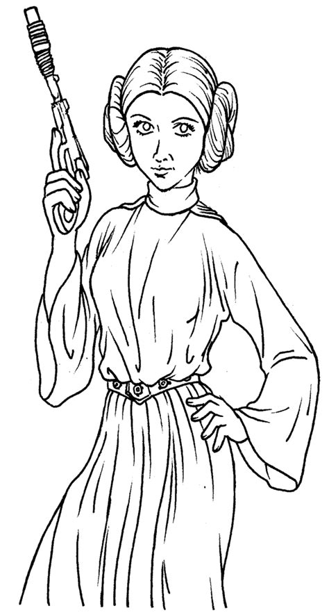 star wars leia coloring pages   print
