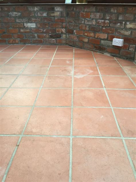 quarry tile floor flood damaged quarry tiles restored in hessle east