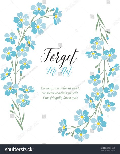vector blue forget   flowers stock vector