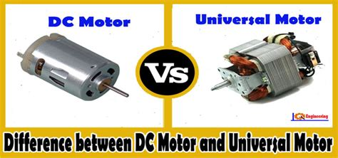 Ac Dc Motor by Dc Motor Vs Universal Motor Difference Between Dc Motor