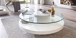 Couchtisch Rund Weiß Hochglanz : couchtisch glastisch wei rund hochglanz almada ~ Whattoseeinmadrid.com Haus und Dekorationen