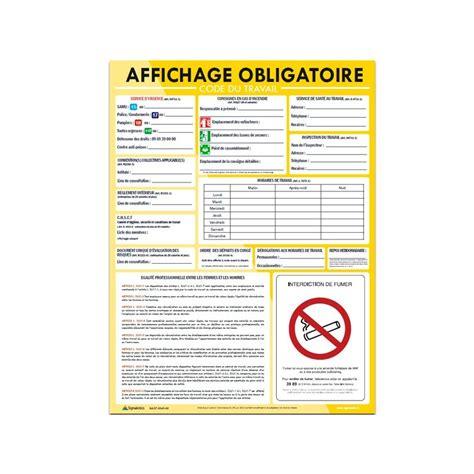 bureau de contr e obligatoire panneau code du travail affichage obligatoire 45 x 60