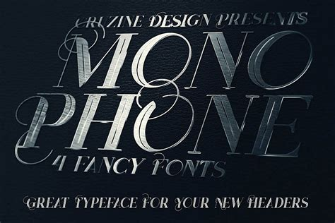 Monophone - Fancy Font By Cruzine Design   TheHungryJPEG.com