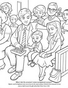 LDS Primary Sacrament Coloring Pages