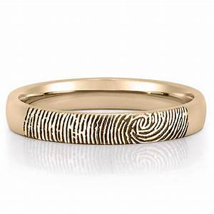 fingerprint wedding band women39s fingerprint on outside With wedding band to fit engagement ring