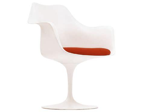 saarinen white tulip arm chair hivemodern