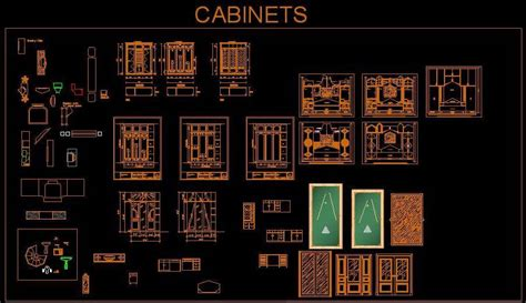 Cabinet Autocad Blocks by Various Cabinet Design Cad Block Autocad Dwg Plan N Design