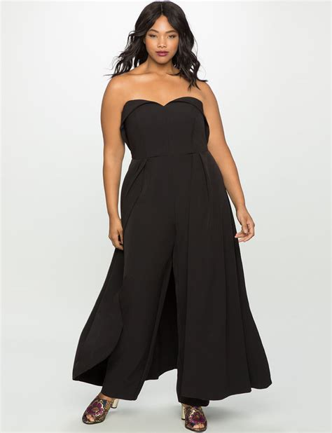 sweetheart neckline jumpsuit with skirt s plus