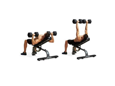press french incline dumbbell dumbbells barbell form workout training correctly exercise proper lying muscle