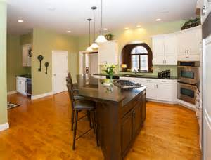 two kitchen islands stylish kitchen with two tier kitchen island homesfeed