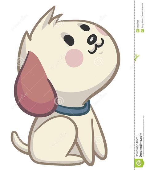 vector illustration   cute cartoon dog