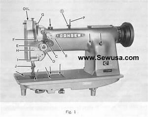 Sewing Machine Parts Diagram