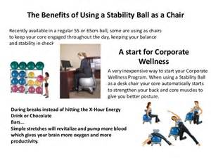 gallery stability ball chair benefits