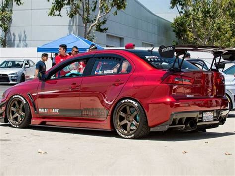 Mitsubishi Evos by Mitsubishi Owners Day 2015 Brought Out Some Awesome
