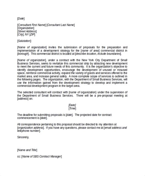 sample business proposal cover letters  word
