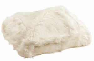 Plaid Blanc Fourrure : plaid imitation fourrure blanc blanc ~ Teatrodelosmanantiales.com Idées de Décoration