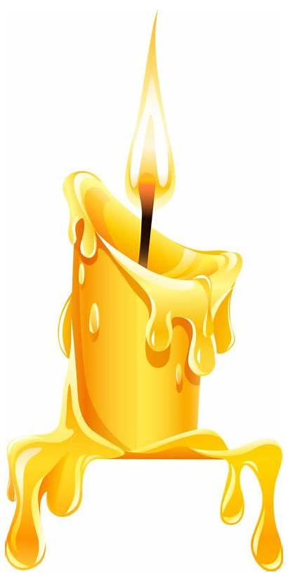 Candles Clipart Clip Yellow Candle Bougies Drawing