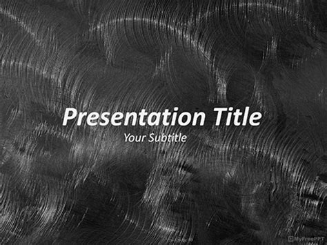 brushed metal powerpoint template