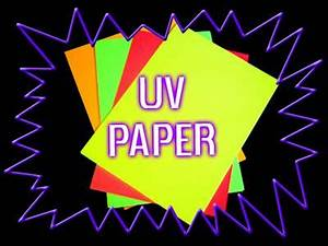 Blacklight UV reactive paper