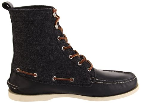 Sperry Top-sider 7-eye Boots In Gray For Men (black/gray