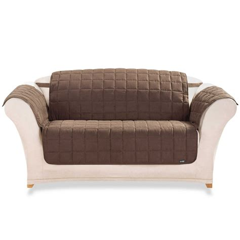 Modern Chair Slipcovers White Loveseat Slipcover Design With Brown Sofa