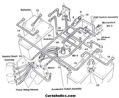 ez go golf cart battery wiring diagram fuse box and