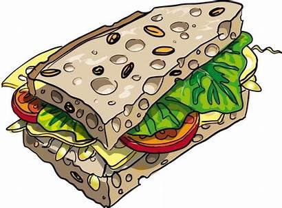 Sandwich Clip Clipart Nutrition Cartoon Healthy Dietary