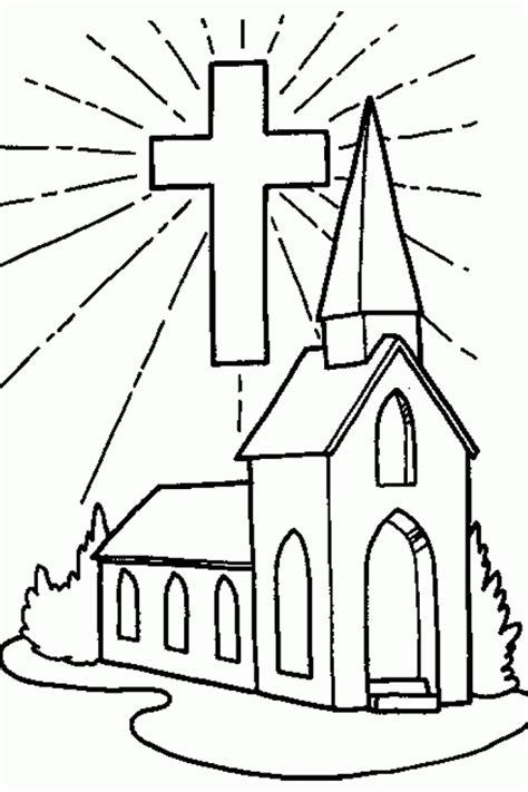 church coloring pages coloring page of a church coloring home