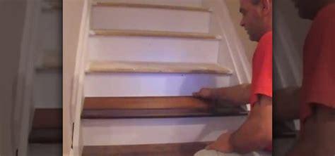 how to laminate stairs how to laminate stairs 171 furniture woodworking wonderhowto