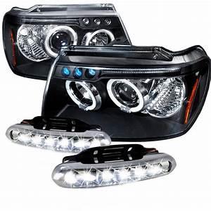 Jeep grand cherokee dual halo led black projector
