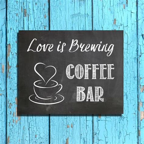 rustic  coffee bar instant   printable