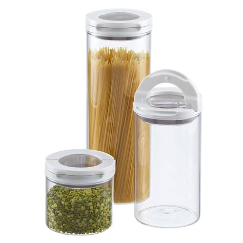 glass kitchen canister set set of oxo fliplock glass canisters the container store