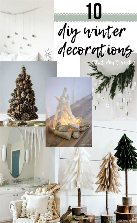 diy winter decorations  dont suck  sweet