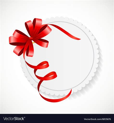 gift card  red ribbon  bow royalty  vector image