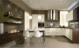 wohnwand holz wohnen in der küche ideen für die kleine wohnküche
