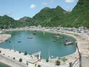 cat ba island photo of cat ba fish harber in cat ba town on cat ba island