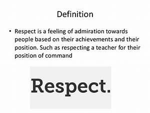 Ian's respe... Respect Definition
