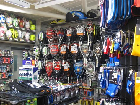 equipment   sports store editorial photo image