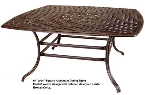 dwl cast aluminum outdoor patio furniture 64x64 square