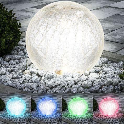 Farbe Die Im Dunkeln Leuchtet Für Aussen by Rgb Led Solar Leuchte Glas Kugel Licht Spiel Au 223 En