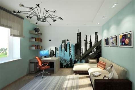 Raumgestaltung Kinderzimmer Junge by Wandgestaltung Jugendzimmer Junge Aqua Wandfarbe Deko City